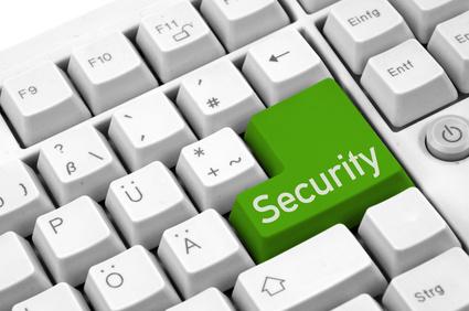 eine grüne Security-taste