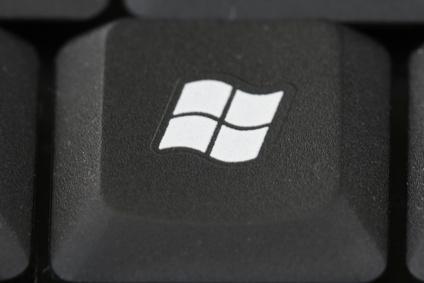 Eine Taste mit dem Windows-Zeichen