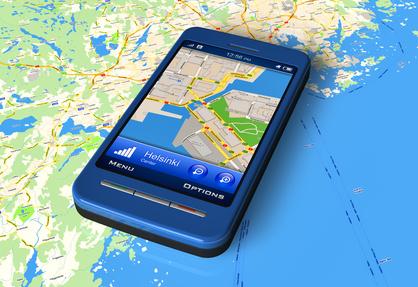 Smartphone mit GPS